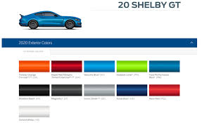 2020 Gt500 Color Palate And Color Example Links 2015 S550