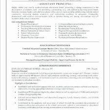 Assistant Principal Resume Sample Creative Resume Examples Military