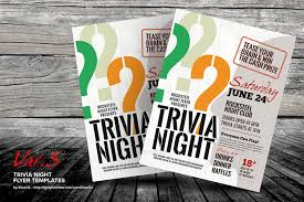 trivia night flyer templates trivia night template trivia night flyer templates kinzi21