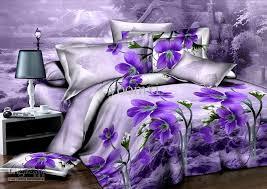 brilliant purple orchid flower unique duvetquilt cover modern queen 3d unique bedding sets designs