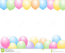 birthday balloons border landscape.  Balloons Download Colorful Balloons Border  Party Frame Stock Illustration   Of Color Decoration Throughout Birthday Landscape