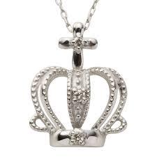 diamond crown crown necklace k10 diamond 0 02ct diamond pendant 10k 10 gold yellow gold pink gold white gold