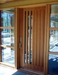 exterior doors wood and glass. modern wood front door with vertical glass panes exterior doors and