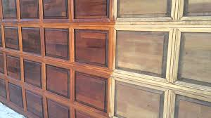 Refinish Stained Wood Garage Door Restoration And Refinishing Youtube