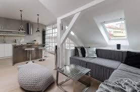 Interior:Twin Attic Bedroom Interior Design Idea Modern Attic Loft Interior  Design With Grey Palette
