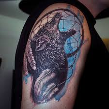 Purple Dream Catcher Tattoo 100 Dreamcatcher Tattoos For Men 40