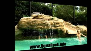 Diy Pool Waterfall Swimming Pool Waterfalls Grottos Caves Custom Rock Youtube