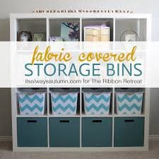 get organized with easy diy fabric covered storage bins it s always autumn