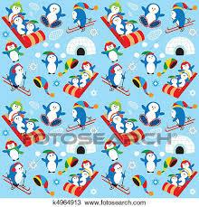 penguin pattern wallpaper. Beautiful Penguin Clipart  Penguin Wallpaper Fotosearch Search Clip Art Illustration  Murals Drawings And To Pattern Wallpaper _