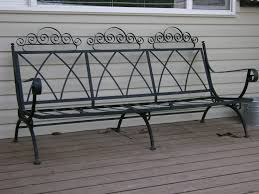 wrought iron patio furniture vintage. Antique Iron Patio Furniture Vintage Wrought Set Outdoor Benches Bench: Full Size .