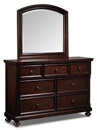 chester piece queen bedroom set  cherry  leon's