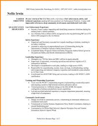 Law Enforcement Resume Template Sample Police Officer Example