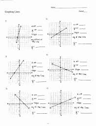 slope intercept form worksheet luxury graphing linear equations worksheet with answer key jennarocca