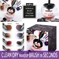 clean dry makeup brush in seconds stylpro makeup brush cleaner and dryer cleaning dirty