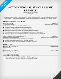 Accounting Assistant Resume Sample Accounting Pinterest Sample