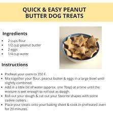 quick easy peanut er dog treats puppy leaks homemade