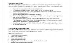 bank teller responsibilities resume good resume for bank teller