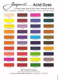 Procion Dye Color Mixing Chart Jacquard Acid Dye Color Mixing Chart Www Bedowntowndaytona Com