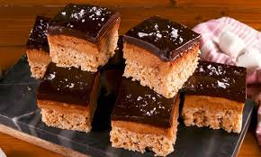 delicious rice krispies buckeye bars