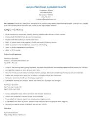 sample warehouse specialist resume resume specialist data entry resume samples sample warehouse specialist resume