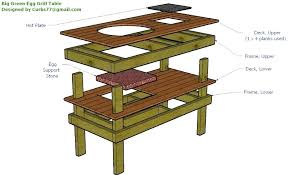 big green egg table plans all the drawings in the plan can be found on the big green egg table plans