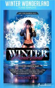 Graphicriver Winter Wonderland Flyer Template » Templates4Share.com ...