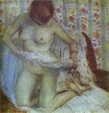 1884 after the bath woman drying herself