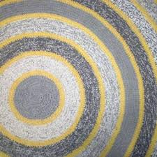 yellow and gray rug round crochet rug grey yellow rug home decor bedroom rug kitchen rug yellow and gray rug