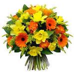 Открытка с большим букетом цветов 232