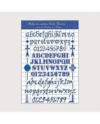 French Cross Stitch Charts Cross Stitch Chart Alphabet Theme