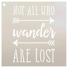 I Do Not Like This Painting Template Not All Who Wander Are Lost Stencil For Painting Wood Signs By Studior12 Reusable Template Easy To Paint Perfect Lettering On Pallets Fabric