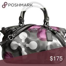 Coach - Madison Sophia Satchel Clover Print Bag If you love the color purple,  this
