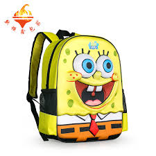 3d fashion cartoon backpack spongebob book bag students shoulder backpack agers bag in backpacks from luge bags on aliexpress