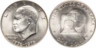 1972 Eisenhower Silver Dollar Value Chart 1776 1976 D Type I Eisenhower Dollar Values Facts