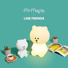 Mr Maria Line Friends Brown Lamp
