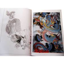 anese style orient dragon tattoo flash book 78 pages line drawing outline tattoo stencils tattoo body