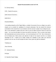 sorority letter of recommendation example sample recommendation letter