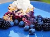 black and blueberry cobbler