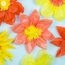 learn how to make giant tissue paper flowers you can create the flowers in any