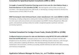 Security Resume Examples From It Consultant Resume Examples Sample