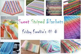 friday freebie's   sweet striped blankets  crochetiercom