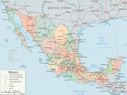 map of mexico  baja california cancun cabo san lucas