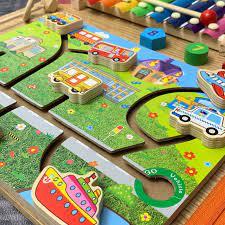 Bảng Học Kỹ Năng Cho Bé Busy Board Mê Cung Đa Năng Đồ Chơi Gỗ Thông Minh Cho  Trẻ Từ 1 Đến 3 Tuổi BR05 - Mô hình Thương hiệu BENRIKIDS