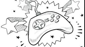 Video Game Controller Coloring Pages A Coloring Pages Of Animals