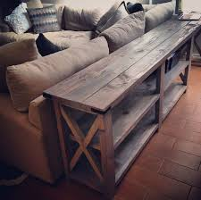 sofa table wooden farm diy sofa table design plans ideas inspiring sofa table design