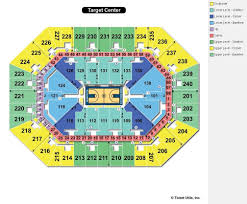Target Center Seating Chart For Wwe Target Center Minneapolis Mn Seating Chart View