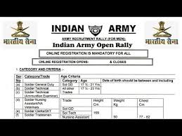 Height And Weight Chart For Indian Army Indian Army Rally Bharti In Jharkhand Apply Now Indian Army