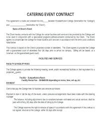 Catering Contract Template Impressive Catering Agreement Template Free Sample Catering Contract Template