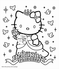 Hello Kitty Cat Coloring Pages Printable Coloring Page For Kids