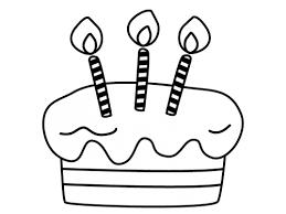 誕生日ケーキの白黒イラスト かわいい無料の白黒イラスト モノぽっと